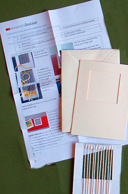 Weave your own Greeting Card (without yarn)