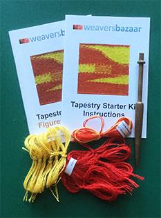 Starter Tapestry Weaving Kit (with large Frame)