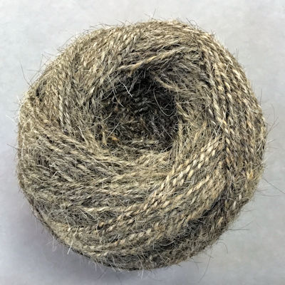 Goat Hair Yarn - Grey - Fine