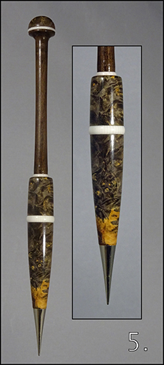 Collector's Bobbin - Maple Burr
