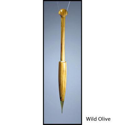 Artisan Bobbins (Metal Tipped) Long Olive Wood