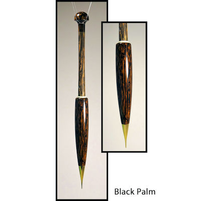 Artisan Bobbins (Metal Tipped) Long Black Palm